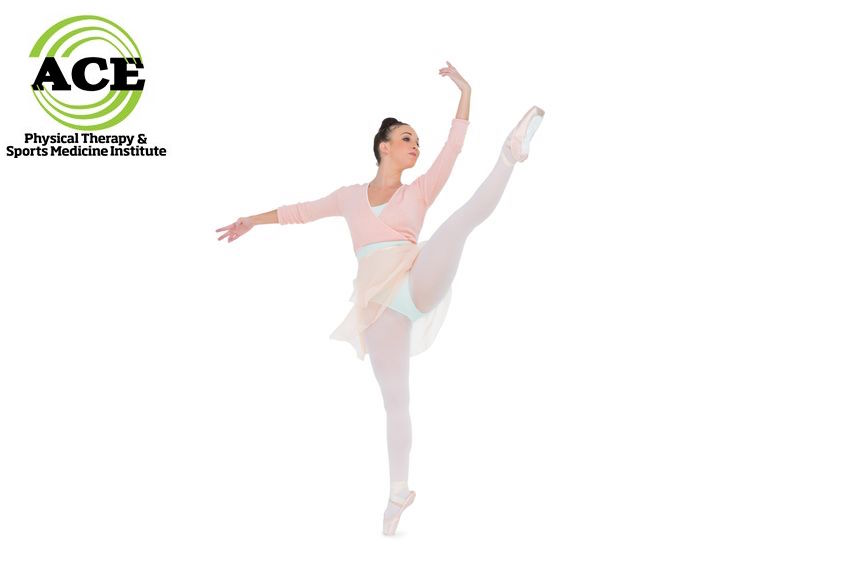 21766259 - gorgeous ballerina dancing rising her leg on white background