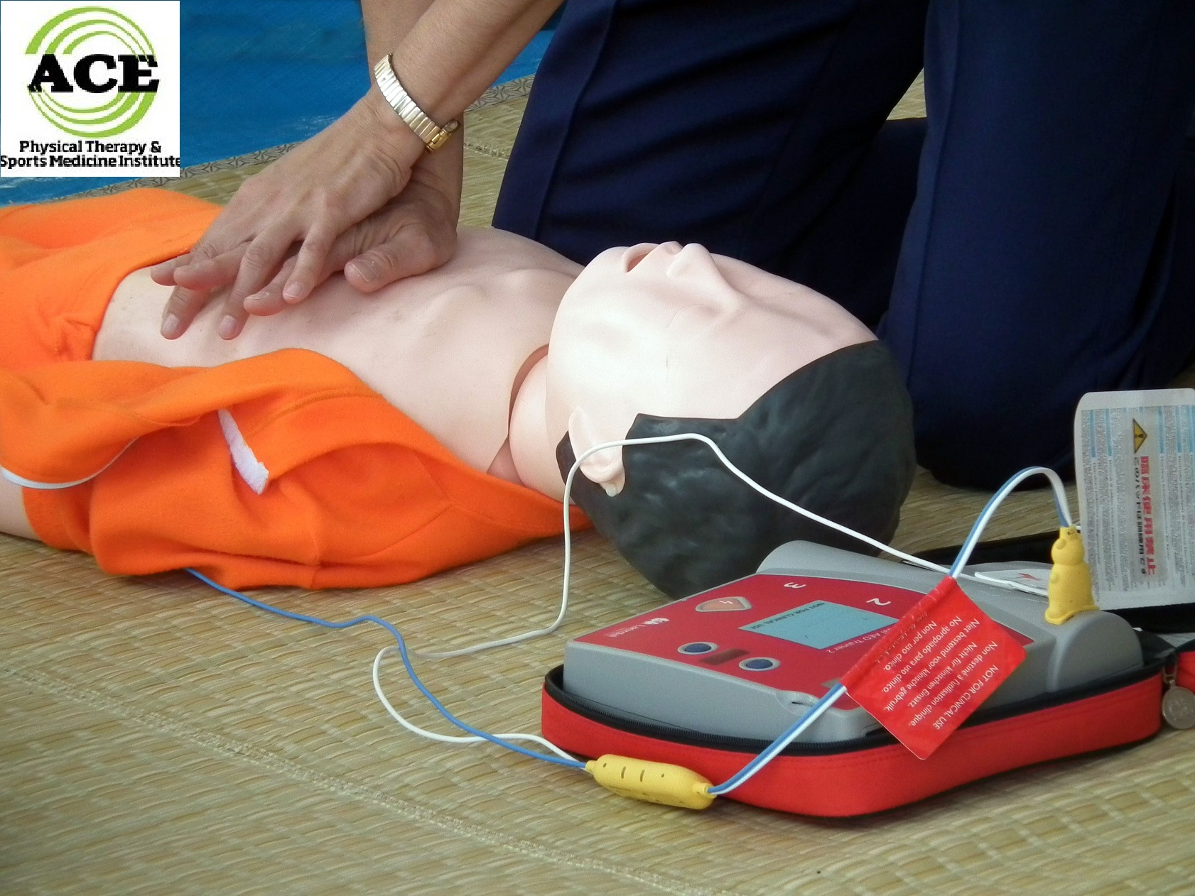 12444634 - training for lifesaving with aed(aichi japan 2011)