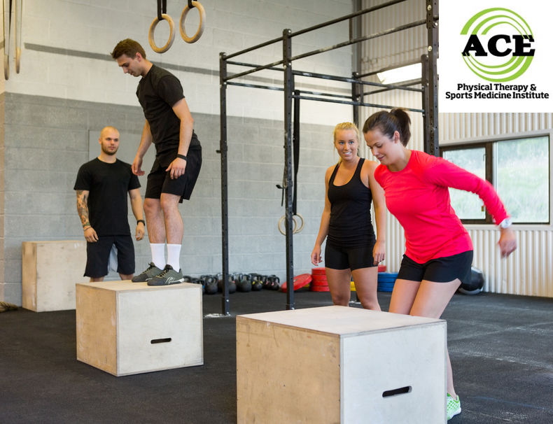 33582878 - athletes box jumping