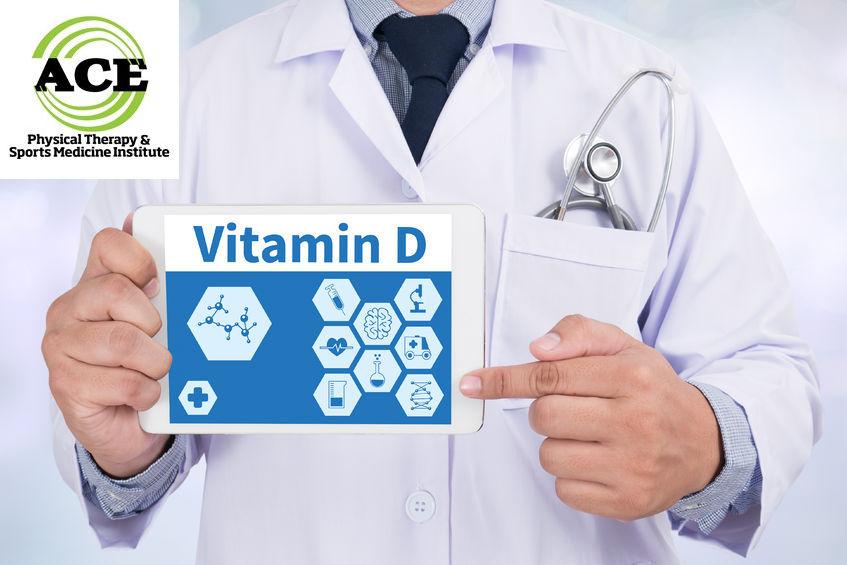 59273718 - vitamin d doctor holding  digital tablet